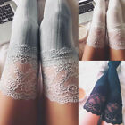Women's Sheer Lace Knitting Thigh High Stockings Plus Size Over The Knee Socks
