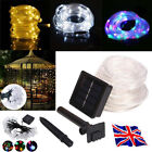 100LED 12m Solar Powered Multi Colour Rope Light Outdoor Strip Party Lights Xmas