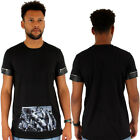 Streetwear Sixth June T-shirt Print Pocket Faux Leather Trim Black