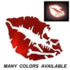 High Intensity Reflective Kiss Of Death Decals Stickers Motorcycles Cars Helmet
