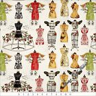 "QT FRISCH ""ANGEL BAND"" 23523E CHRISTMAS MUSIC MANNEQUINS FABRIC (SELECT SIZE)"