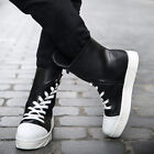 Fashion High Top Oblique Lace Up Zip Round Toe Mens Casual Shoes Size New