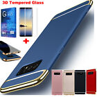 Fr Samsung Galaxy Note 8 Ultra Thin 360 Full Body Hard Case Cover Tempered Glass
