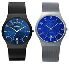 Skagen Men's Quartz 12/24 Hours Titanium Case Stainless Steel Mesh Watch image