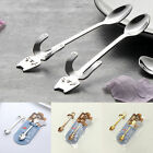 Silver Stainless Steel Cartoon Cat Coffee Mixing Spoon Tableware Kitchen Supply
