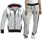 NEW Womens TRACK TOP PANTS Hoodie Ladies SUIT Joggers Grey Size 6 8 10 12 14