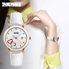 Women Ladies Quartz Analog Waterproof Watch Leather Love HeartWrist Watches