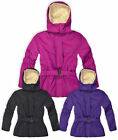 Girls Jacket Padded Hooded Coat Kids Winter Faux Fur Lined New Age 3  - 4  Years