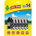14 PACK - Little Trees Black Ice Car Tree Air Freshener Masculine Scent