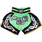 NEON GREEN 'LOVE BOXING' MUAY THAI RINGSPORT KICKBOXING FIGHTING SHORTS PANTS