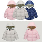 1-2-3 Years Girls Hooded Jackets & Coats Winter Baby Kids Down Cotton Outerwear