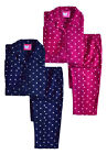 Girls Pyjamas New Kids Long Sleeved Fleece Classic PJ Set Ages 7 - 13 Years