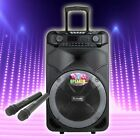 15'' Bluetooth Portable KARAOKE Party PA DJ Audio Speaker System with Microphone