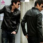 Mens PU Leather Jacket New Fashion Biker Slim Fit Stylish Motorcycle Jacket Coat