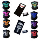 Skull Bike Motorcycle Scarf Neck Mask Sports Headband Halloween Flexible Elastic