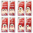 HEAD CASE DESIGNS PIPER THE PUG RED GLITTER CASE FOR APPLE iPHONE SAMSUNG PHONES