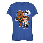 Star Wars Han Solo and Chewbacca Juniors Graphic T Shirt $22.95 USD on eBay