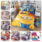 Cartoon Bedding Set Minions Mickey Mouse Hello Kitty Bed Linen 4pcs Duvet Cover