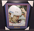 MARK MESSIER BLOOD NEW YORK RANGERS Autographed 16x20 Photo Framed Steiner COA