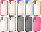 """For iPhone X 5.8"""" Hybrid Shockproof Impact Clear Classic Soft TPU Case Cover New"""
