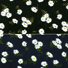 Tumbling Daisy Stems Floral Flowers 100% Viscose Print Fabric 140cm Wide