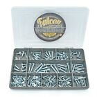 110 ASSORTED, No. 6 8 10 ZINC FLANGE POZI PAN SELF TAPPING TAPPER SCREWS KIT