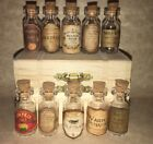 "LABELS ONLY 1"" &Less Halloween Apothecary Potion Bottles Harry Potter Party Prop"