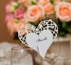 100-Heart Place Cards,Glass cards for Wine Glass Decoration,Dinner,Parties