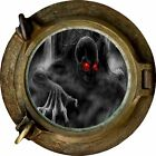 Huge 3D Porthole Evil Skeleton Lurking View Wall Stickers Decal Wallpaper 281