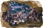 Huge 3D Smugglers Cove Pirate Cave View Wall Stickers Mural  Decal Film 21