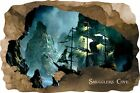 Huge 3D Smugglers Cove Pirate Cave View Wall Stickers Mural  Decal Film 44