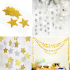 Glitter Bunting Garland Hanging Twinkle Star Banner Wedding Celebration Party 4m