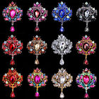 12 Color Women Fashion Rhinestone Brooch Flower Crown Breastpin Collar Pin Gift