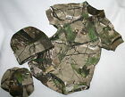 REALTREE APG CAMO CAMOUFLAGE INFANT BABY 3 PC SNAP DIAPER SHIRT SET- HAT BOOTIES