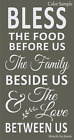 Joanie XL STENCIL Bless Food Family Love Between Us Wheat Vine Country Prim Home