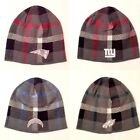 Licensed Team Plaid Gray Tones Cuffless Knit Hat Beanie Cap - Pick Your Team $14.95 USD on eBay