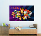 Personalised Glossy Kids Paw Patrol Poster  - Wall Decoration - Brand New -