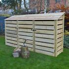 Empingham 6ft Wooden Log Store - Also Available With Doors - UK Hand Made