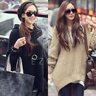 Lady Batwing Sleeve Jumper Irregular Knit Cardigan Pullover Hooded Sweater Top