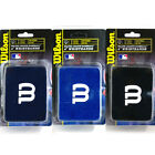 "Wilson MLB Baseball Softball 4"" Wristbands 1 Pair Sweatbands Blue Black WTA6630"