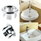 2pcs 22-24mm Plastic Silver Bathroom Overflow Sink Round Net Ring Insert Decor