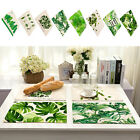 Green Leaves Insulation Bowl Placemats Cotton Linen Pad Western Table Mat GIFT