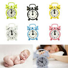 Convenient Mini Metal Small Alarm Clock Fashion Student Electronic Clock Gift US