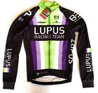 New 2016 Men's Biemme Lupus Pro Cycling LS Thermal Jersey, Purple/Green