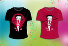 Ladies Betty Boop  Marolyn Monroe Red Dress Cotton T-Shirts - Black color Only $9.9 USD on eBay