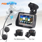 "4.3"" Motorcycle GPS Sat Nav 8GB Lifetime Update US Map+Wireless Bluetooth Headse"