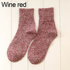 Warm Winter Women Pure Color Soft Wool Thick Socks
