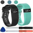 Replacement Silicone WristBand Strap Bracelet w/Tool for Fitbit Charge HR Large