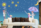 3D Stars Moon 502 Wallpaper Murals Wall Print Wallpaper Mural AJ WALL AU Kyra