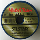 Silstar WB Match Team Line High Tech Low Diameter 0.08mm to 0.26mm 100m Spools